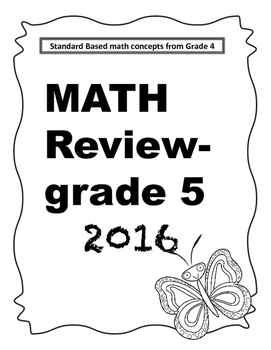 Beginning year math review grade 5