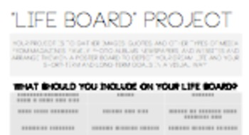 Beginning/End of Year Project - Life Board Project - Future Goal Planning