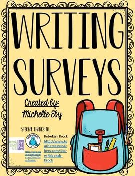 Beginning/End of Year Writing Survey