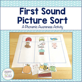 First Sound Picture Sort - A Phonemic Awareness Activity