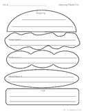 Beginning/Middle/End Hamburger Graphic Organizer (B&W)