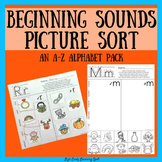 Beginnings Sounds Picture Sorts: An A-Z Alphabet Pack