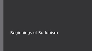 Beginnings of Buddhism