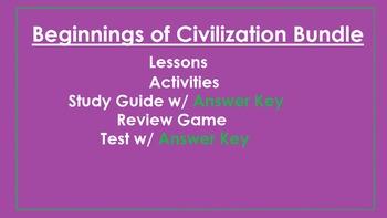 Beginnings of Civilization Bundle
