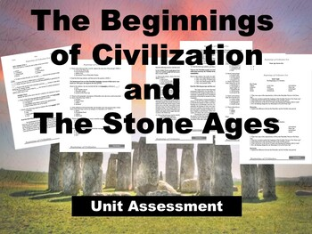 Beginnings of Civilization and Stone Age Assessment/Test