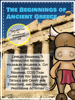 Beginnings of Greece Leveled Readings and Interactive Notebook Activities