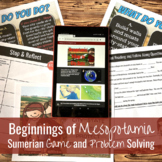 Beginnings of Mesopotamia: Sumerian Game and Problems Solving