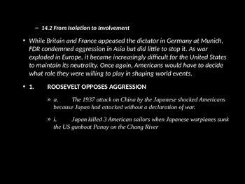 Beginnings of World War 2 PowerPoint
