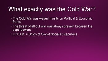 Beginnings of the Cold War PowerPoint, Guided Notes, and Completed Notes