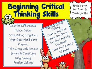 Beginnng Critical Thinking Skills: Teach Primary Students to Think Deeper!