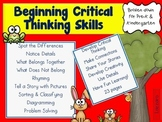 Beginnng Critical Thinking Skills: Teach Primary Students