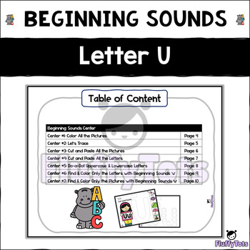 Beginning Sounds Letter of The Week : Letter U