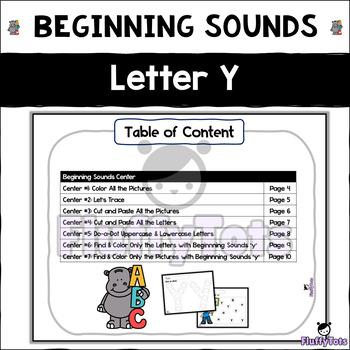 Beginning Sounds Letter of The Week : Letter Y