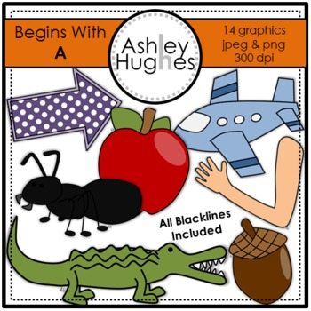 Begins With A Clipart {A Hughes Design}