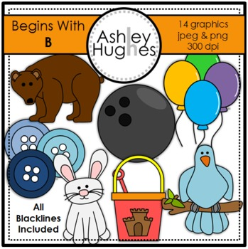 Begins With B Clipart {A Hughes Design}