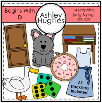 Begins With D Clipart {A Hughes Design}