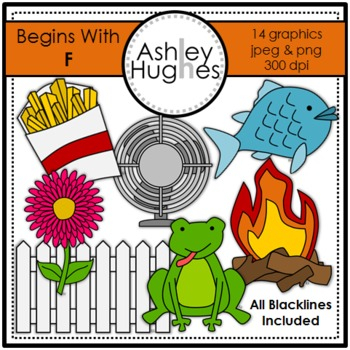 Begins With F Clipart {A Hughes Design}