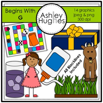 Begins With G Clipart {A Hughes Design}