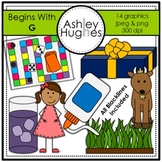 Begins With G Clipart [Ashley Hughes Design]