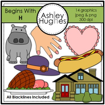 Begins With H Clipart {A Hughes Design}