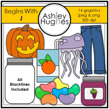 Begins With J Clipart {A Hughes Design}