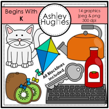 Begins With K Clipart {A Hughes Design}