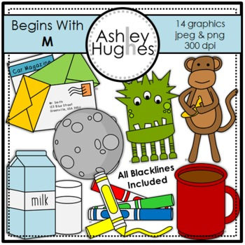 Begins With M Clipart {A Hughes Design}