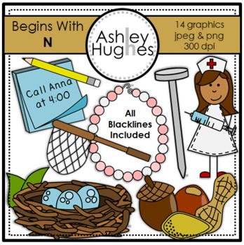 Begins With N Clipart {A Hughes Design}