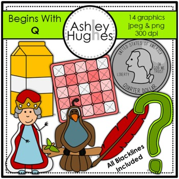 Begins With Q Clipart {A Hughes Design}