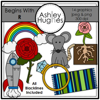 Begins With R Clipart {A Hughes Design}