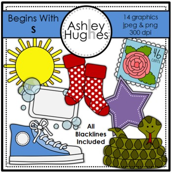 Begins With S Clipart {A Hughes Design}