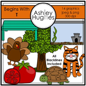 Begins With T Clipart {A Hughes Design}