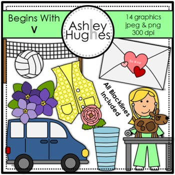 Begins With V Clipart {A Hughes Design}