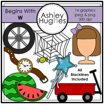Begins With W Clipart {A Hughes Design}