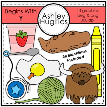 Begins With Y Clipart {A Hughes Design}