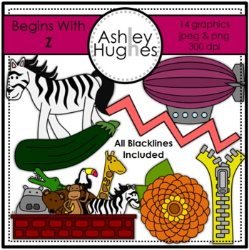Begins With Z Clipart {A Hughes Design}