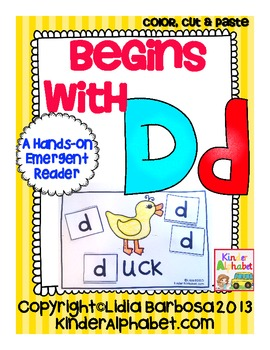Begins with Dd {a Hands-On Emergent Reader}