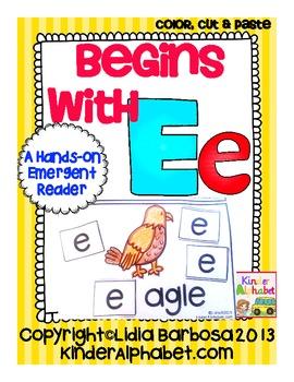 Begins with Ee {a Hands-On Emergent Reader}