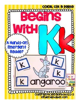 Begins with Kk {a Hands-On Emergent Reader}