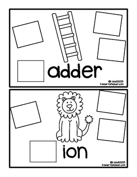 Begins with Ll {a Hands-On Emergent Reader}