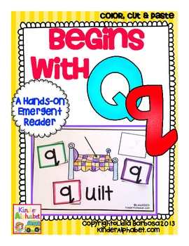 Begins with Qq {a Hands-On Emergent Reader}
