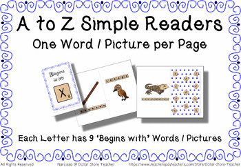 Begins with Simple Reader Bundle - A to Z Book Bundle