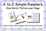 Begins with Simple Reader Bundle - A to Z Book Bundle