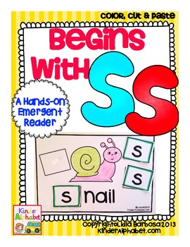 Begins with Ss {a Hands-On Emergent Reader}