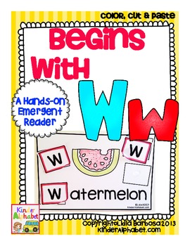 Begins with Ww {a Hands-On Emergent Reader}