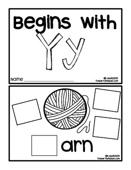 Begins with Yy {a Hands-On Emergent Reader}