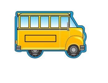 Behavior Chart (5 Boxes) Bus Theme
