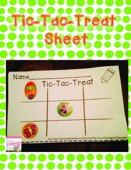 Behavior 101: Tic-Tac-Treat Sheet