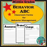 Behavior Management - Behavior ABC