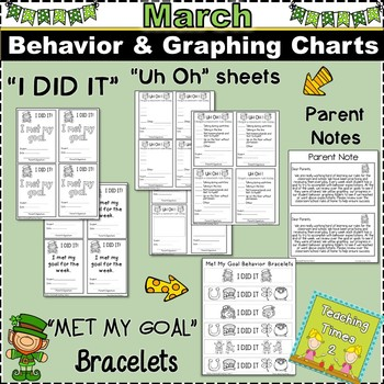 Student Behavior Charts and Graphing Data Tracking- MARCH
